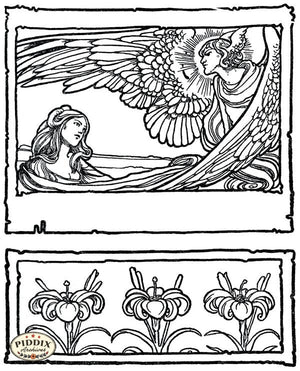 PDXC15670-- Black & White Fairy Tales Black & White Engraving