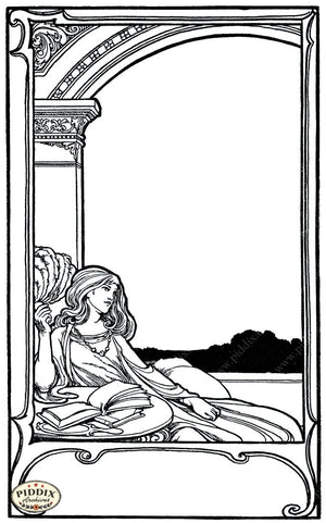 Pdxc15676-- Black & White Fairy Tales Black & White Engraving