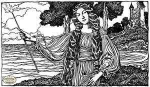 PDXC15801-- Black & White Fairy Tales Black & White Engraving