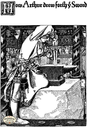 PDXC15814-- Black & White Fairy Tales Black & White Engraving