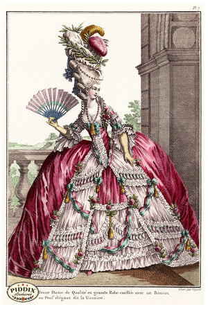 Pdxc1581C -- French Fashion Color Illustration