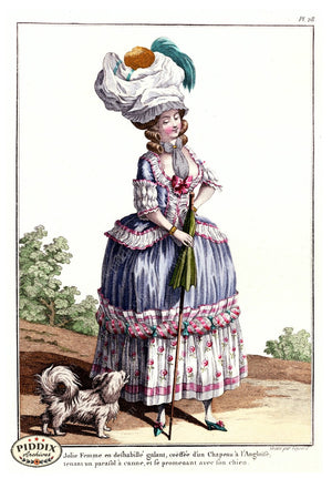 Pdxc1584 -- French Fashion Color Illustration