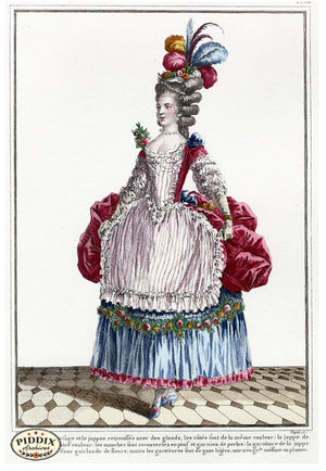 Pdxc1585 -- French Fashion Color Illustration