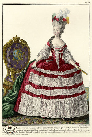 Pdxc1588 -- French Fashion Color Illustration