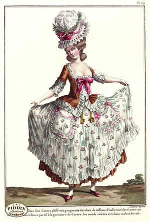 Pdxc1589 -- French Fashion Color Illustration
