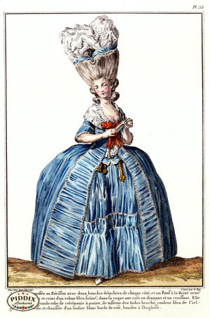 Pdxc1590 -- French Fashion Color Illustration