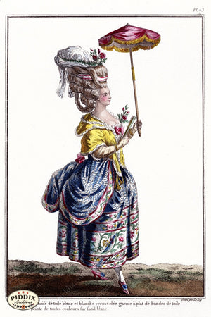 Pdxc1591 -- French Fashion Color Illustration