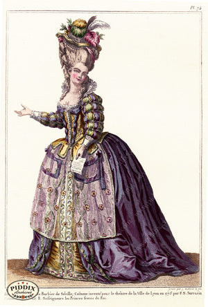 Pdxc1594 -- French Fashion Color Illustration