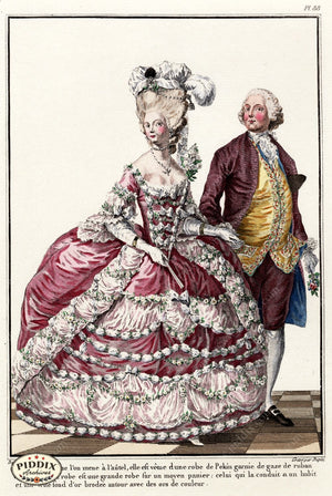 Pdxc1598 -- French Fashion Color Illustration