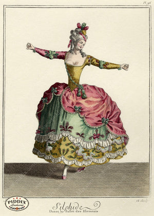 Pdxc1602 -- French Fashion Color Illustration