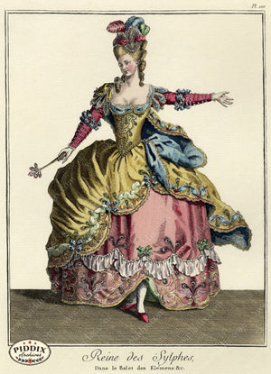 Pdxc1603 -- French Fashion Color Illustration