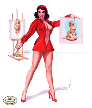 Pdxc16037 -- Pin-Ups Color Illustration