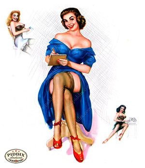 Pdxc16038 -- Pin-Ups Color Illustration