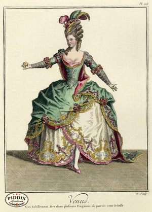 Pdxc1604 -- French Fashion Color Illustration