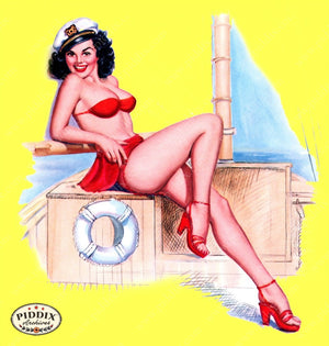 Pdxc16041B -- Pin-Ups Color Illustration