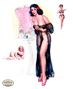 Pdxc16046 -- Pin-Ups Color Illustration