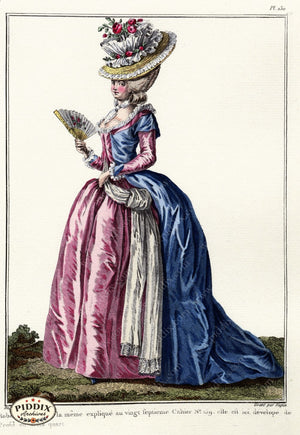Pdxc1609 -- French Fashion Color Illustration