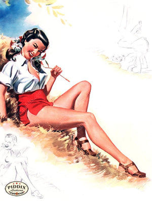 Pdxc16091 -- Pin-Ups Color Illustration
