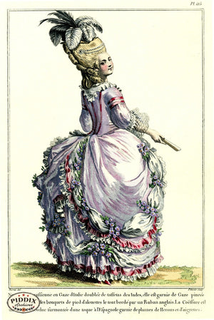 Pdxc1610 -- French Fashion Color Illustration