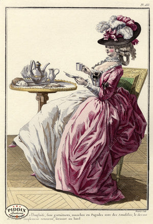 Pdxc1612 -- French Fashion Color Illustration
