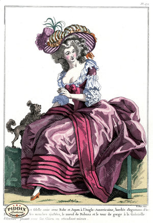 Pdxc1613 -- French Fashion Color Illustration