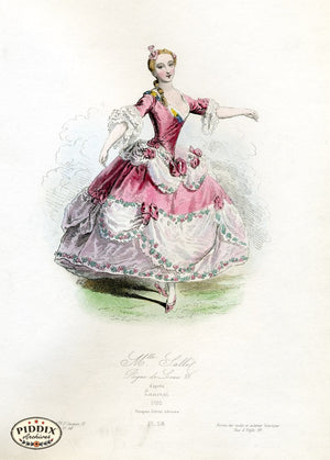 Pdxc1699 -- French Fashion Color Illustration