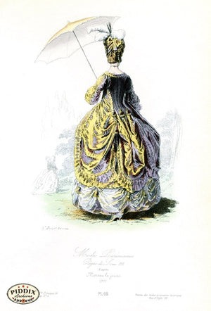 Pdxc1701 -- French Fashion Color Illustration