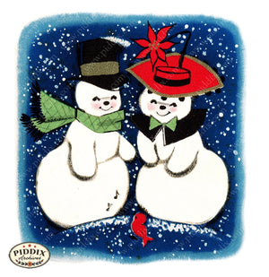 PDXC17030a -- Snowmen women Color Illustration