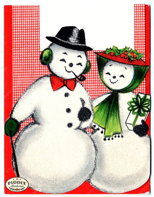 PDXC17033 -- Snowmen women Color Illustration