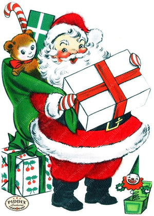 Pdxc17047A -- Santa Claus Color Illustration