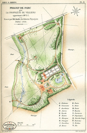 Pdxc1708 -- Garden Maps Color Illustration