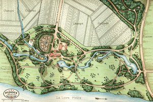 Pdxc1709 -- Garden Maps Color Illustration