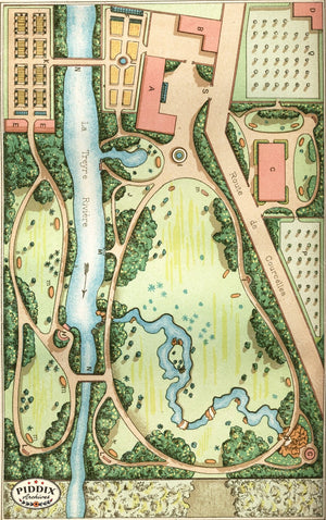 Pdxc1712 -- Garden Maps Color Illustration