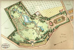 Pdxc1713 -- Garden Maps Color Illustration