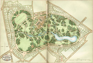 Pdxc1715 -- Garden Maps Color Illustration