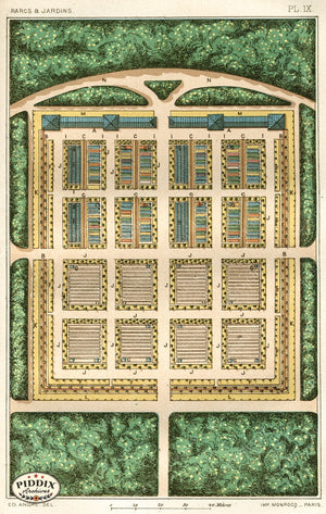Pdxc1716 -- Garden Maps Color Illustration