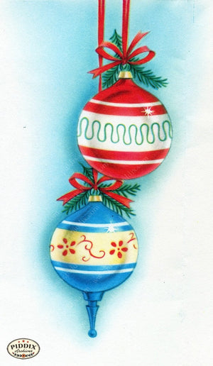 Pdxc17321 -- Christmas Ornaments Color Illustration
