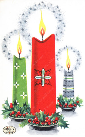 Pdxc17336 -- Christmas Candles Color Illustration