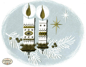 Pdxc17355 -- Christmas Candles Color Illustration