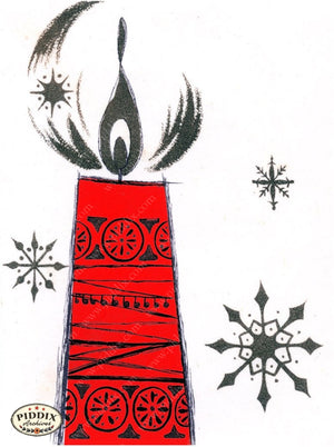 Pdxc17356 -- Christmas Candles Color Illustration