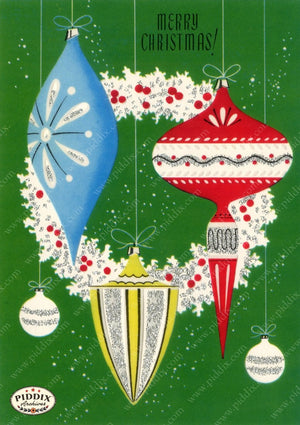 Pdxc17363 -- Christmas Ornaments Color Illustration