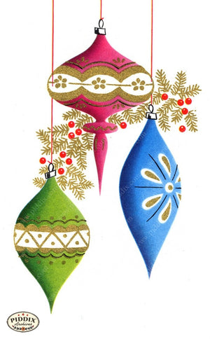 Pdxc17363B -- Christmas Ornaments Color Illustration