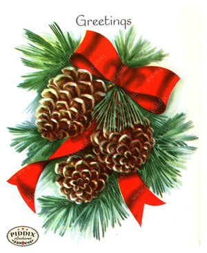 PDXC17367a -- Christmas Greens Color Illustration