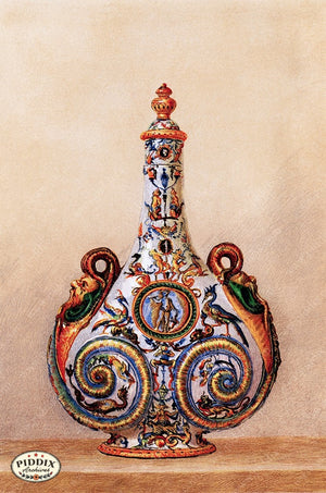 PDXC18882 -- Chinoiserie Vases Color Illustration