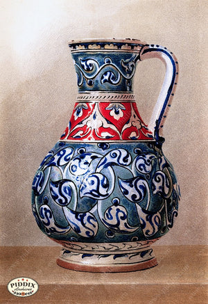 PDXC18884 -- Chinoiserie Vases Color Illustration