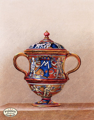 PDXC18885 -- Chinoiserie Vases Color Illustration