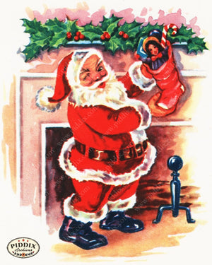 Pdxc18908B -- Santa Claus Color Illustration
