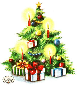 Pdxc18931A -- Christmas Trees Color Illustration