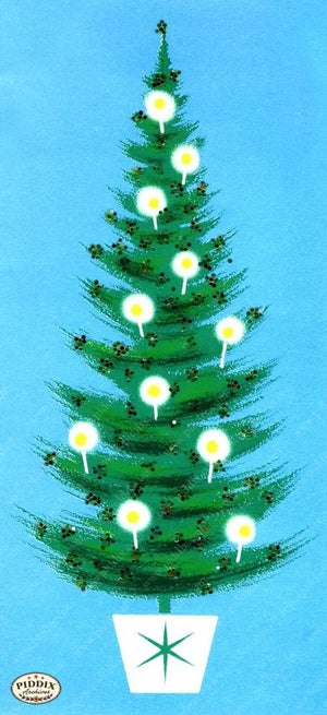Pdxc18944A -- Christmas Trees Color Illustration