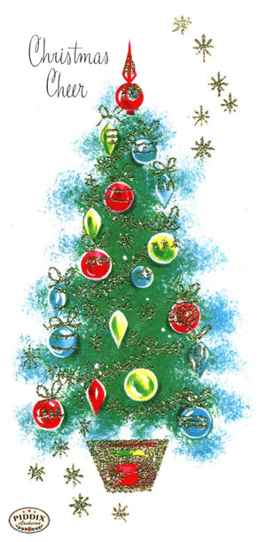 Pdxc18973A -- Christmas Trees Color Illustration